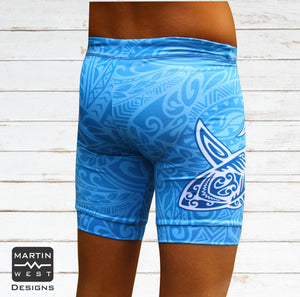 Female Tattoo Shark run/paddle shorts