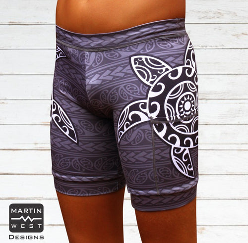 Female Tattoo Turtle Swim/run/paddle shorts