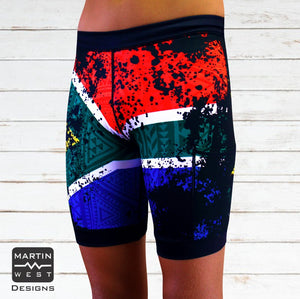 Male SA Flag Swim/run/paddle shorts