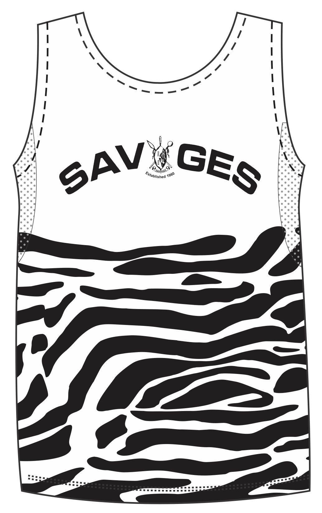 Savages active male run vest