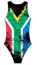 Female Water polo swimsuit- South African Flag - DG apparel competitive swimwear lifesaving waterpolo south african flag swimwear triathlon running