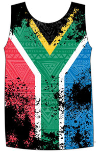 Male South African Flag run vest