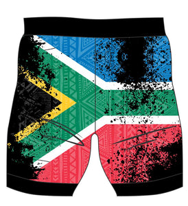 Female South African Flag run/paddle shorts