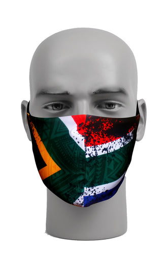 Ultimate Comfort Reusable Face Mask Ethnic South African Flag