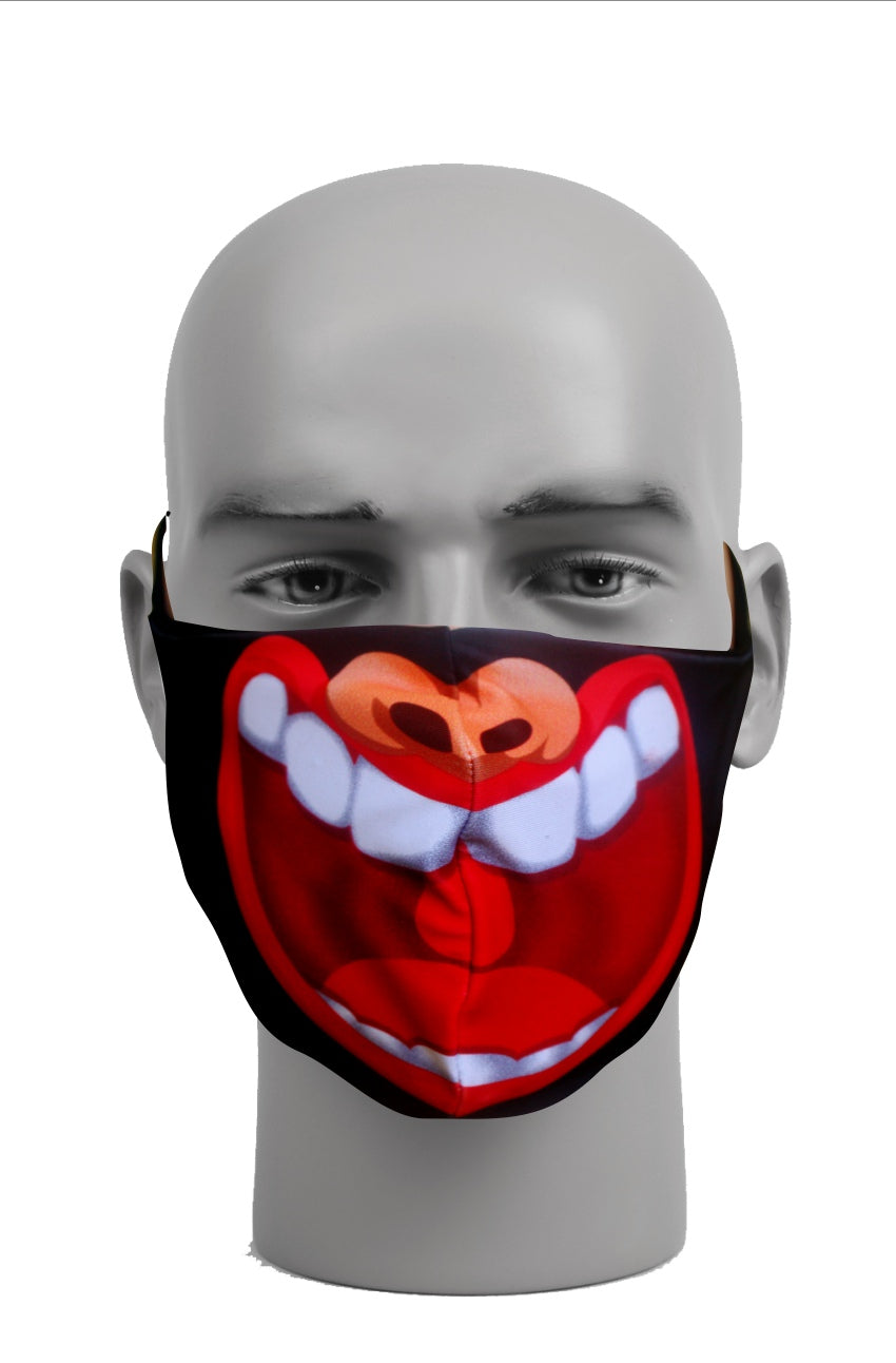 Ultimate Comfort Reusable Face Mask Laughing Mouth