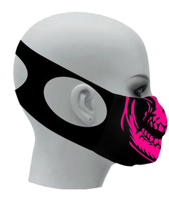 Ultimate Comfort Reusable Face Mask Pink Skull