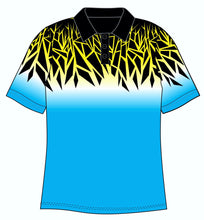 Male Funky Blue Chards Custom Printed Golf Shirt