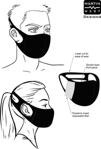 Ultimate Comfort Reusable VODAPHONE Face Mask example not for sale