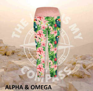 Alpha And Omega Garden of eden Athleisure Three Quarter Tights