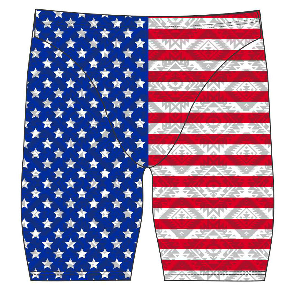 Male jammer swimsuit- American Flag