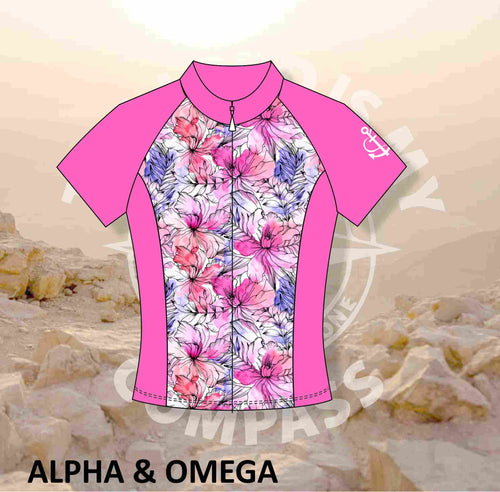 A&O WATER COLOR FLORAL Pro Cycling Shirt