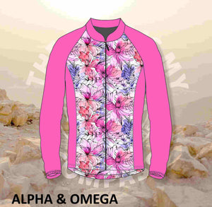 Alpha And Omega Floral Water color  Trail Jacket