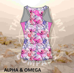 Alpha & Omega Floral Faith Run Vest