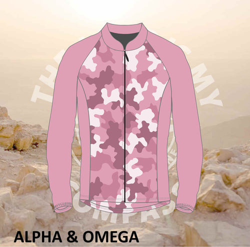 Alpha And Omega Be Strong Pink Camo Print Trail Jacket