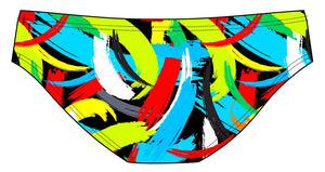 Male brief swimsuit -  Brushstrokes