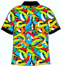 Male Funky Brush Strokes Custom Printed Golf Shirt