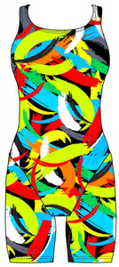 Female kneeskin swimsuit - Brushstrokes