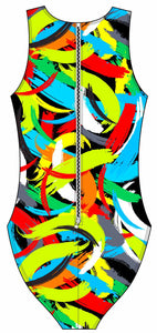 Female water polo swimsuit - Brushstrokes