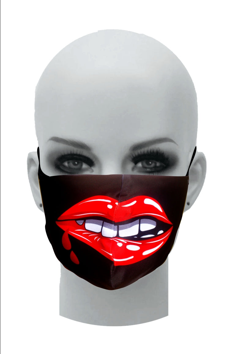 Ultimate Comfort Reusable Face Mask Cheeky lips