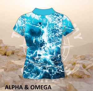 Alpha and Omega Lord is my Compass Ladies Golf Shirt