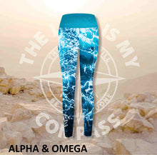 Alpha And Omega The Lord is my Compass Print Athleisure Tights