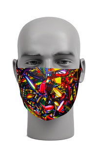 Ultimate Comfort Reusable Face Mask Fishing Print