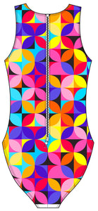Female water polo swimsuit - Geo petals
