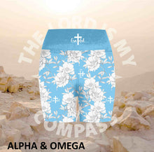 Alpha And Omega GRATEFUL PEONY Athleisure Short Tights