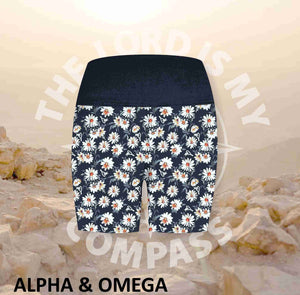Alpha And Omega Daisy Athleisure Short Tights