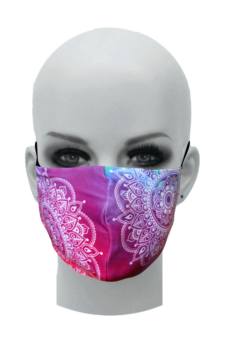 Ultimate Comfort Reusable Face Mask Pink Mandala