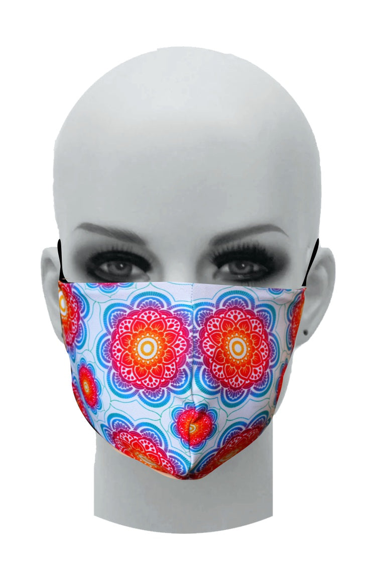 Ultimate Comfort Reusable Face Mask Rainbow Mandala