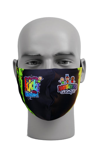 Ultimate Comfort Reusable Rainbows and Smiles Face Mask