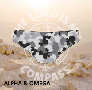 Alpha And Omega Strength Grey Camo Bikini Bottom