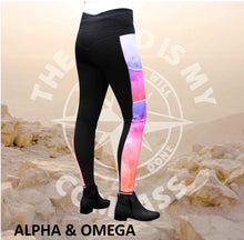 A&O Watercolor Jesus Loves You Equestrian Tights