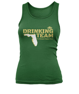 Green and Gold Drinking Team Women's Tank Top
