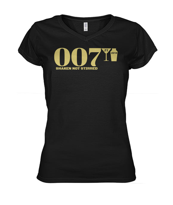 007 Shaken Not Stirred 2018 Women's V-Neck