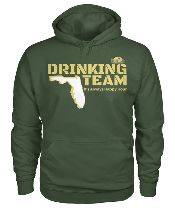 Green and Gold Drinking Team Gildan Hoodie