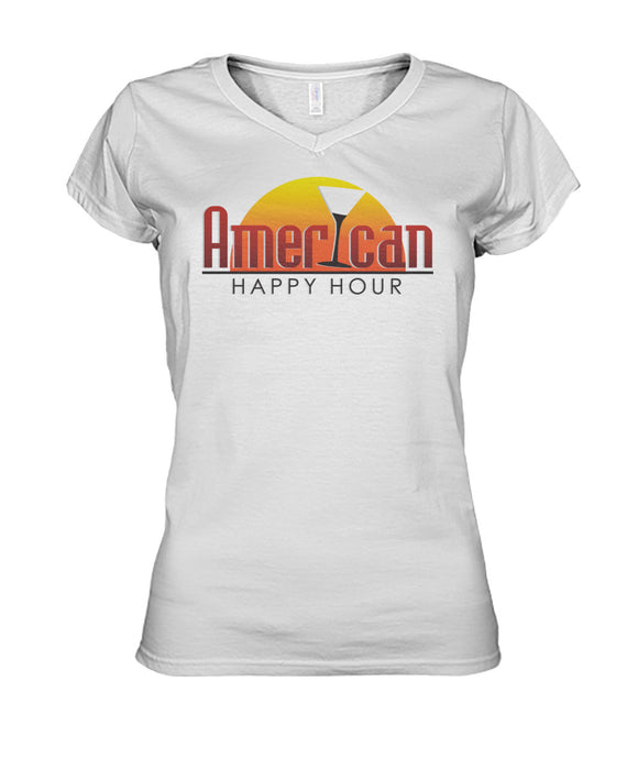 American Happy Hour Woman's V-Neck Women's V-Neck