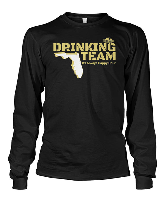 Black and Gold Drinking Team Unisex Long Sleeve