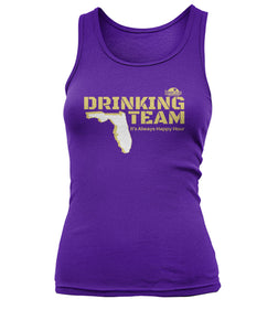 Purple and Gold Drinking Team Women's Tank Top