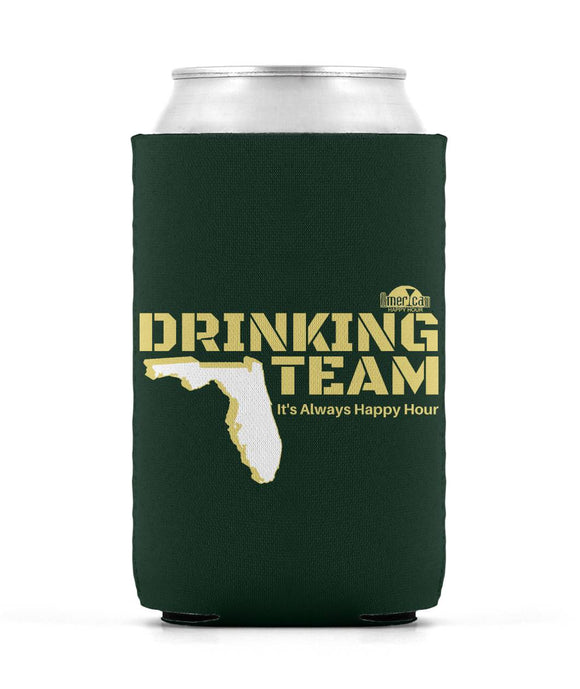 Green and Gold Drinking Team Can Sleeve