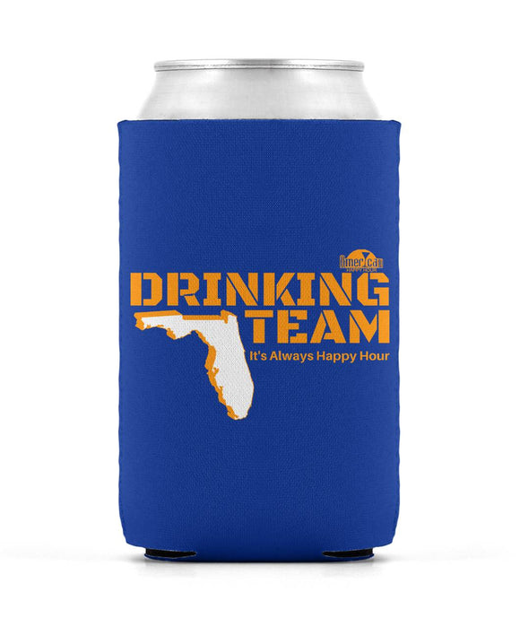 Orange and Blue Florida Drinking Team Can Sleeve