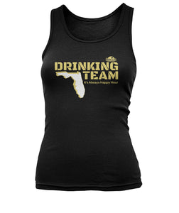 Black and Gold Drinking Team Women's Tank Top