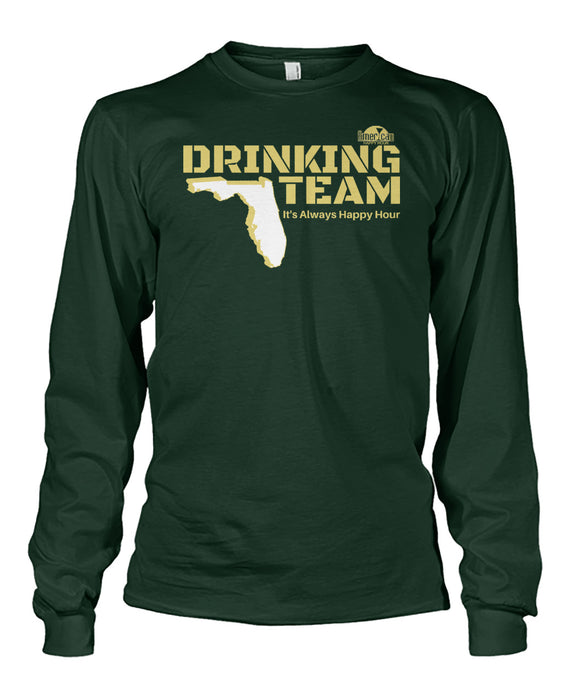 Green and Gold Drinking Team Unisex Long Sleeve