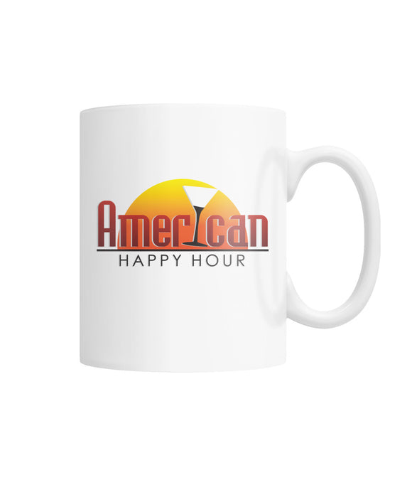 American Happy Hour White Coffee Mug