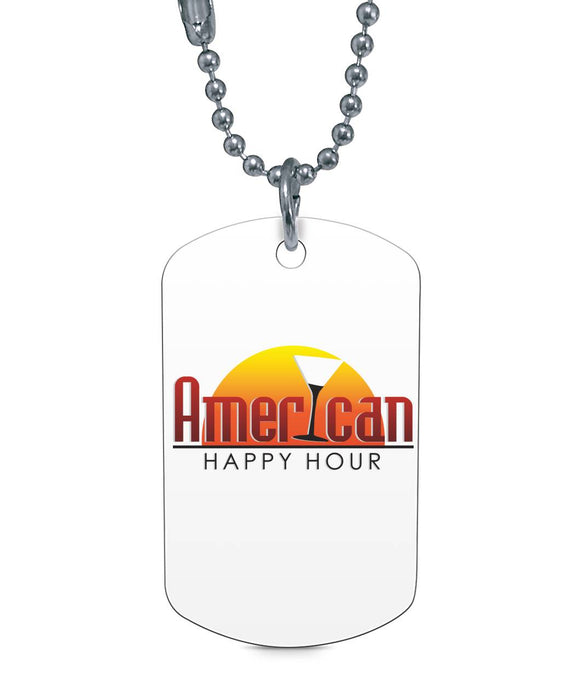 American Happy Hour Dog Tag