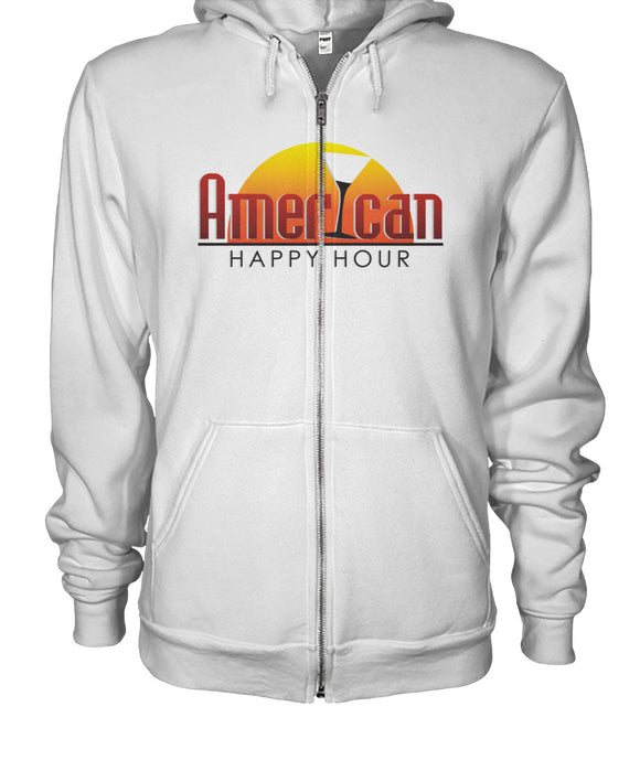 American Happy Hour Gildan Zip-Up Hoodie