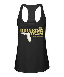 Black and Gold Drinking Team Women's Racerback Sport Tank