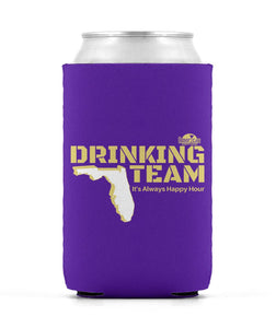 Purple and Gold Drinking Team Can Sleeve