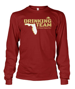 Garnet and Gold Florida Drinking Team Unisex Long Sleeve